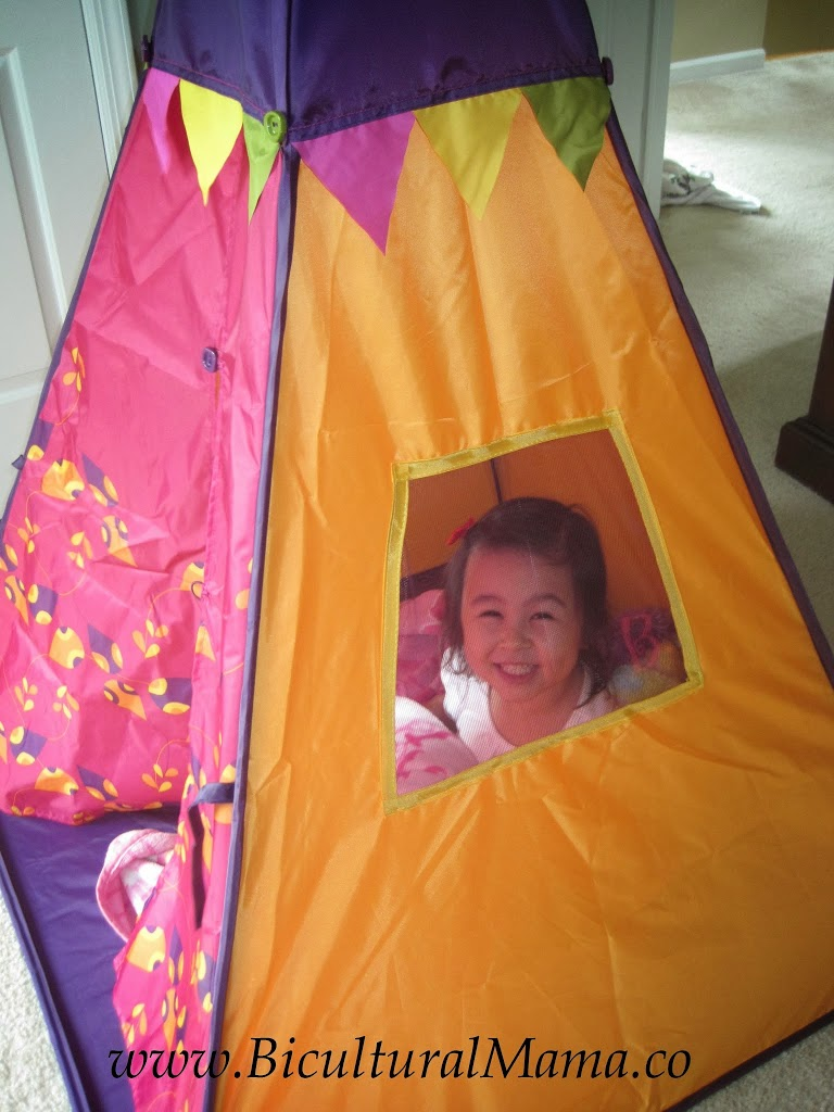 The coolest part was the light feature that hangs inside from the top of the teepee u2013 simply pull the cord and kids will see twinkling stars and a moving ...  sc 1 st  Bicultural Mama & B. TeePee Gives Kids Their Own Cool Place to Hang Out   Bicultural ...