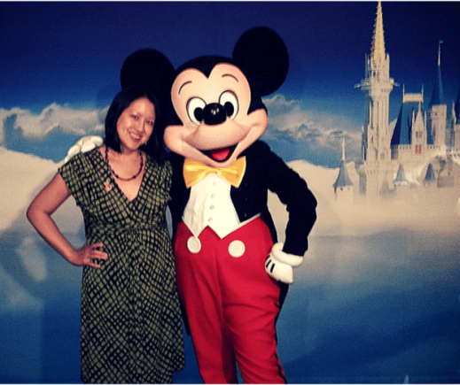 Bicultural Mama with Mickey at Disney Social Media Moms On-the-Road 2015 NYC. Image: Maria Adcock