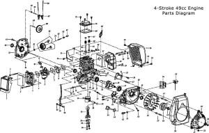 Replacement Parts  4Stroke Parts  49cc Engine Parts