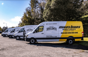 Mike's Bikes fleet launched this year.