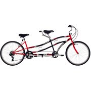 26″ Northwoods,Tandem Bike 21-Speed Dual Drive, Red/Black