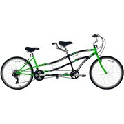 26″ Northwoods,Tandem Bike 21-Speed Dual Drive, Green/Black