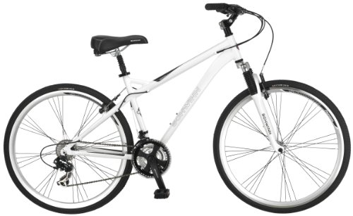 Schwinn Men's Network 3.0 700C Hybrid Bicycle, White, 18-Inch