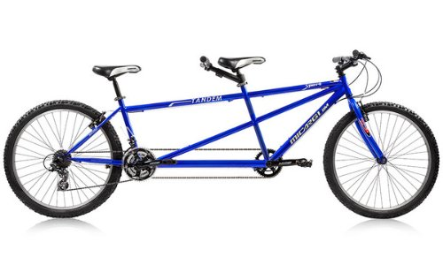 Sport 26″ Tandem Shimano 21-Sp Steel Frame Alloy Rims 36H / Smaller Rear Frame (3 Colors)