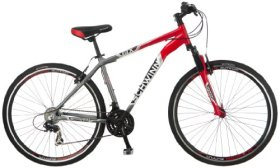 Schwinn Men's GTX-2 700C Dual Sport Bicycle, Red/Silver, 18-Inch