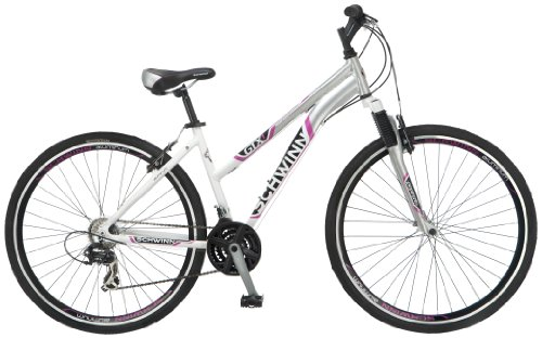 Schwinn Women's GTX-1 700C Dual Sport Bicycle, White/Silver, 16-Inch