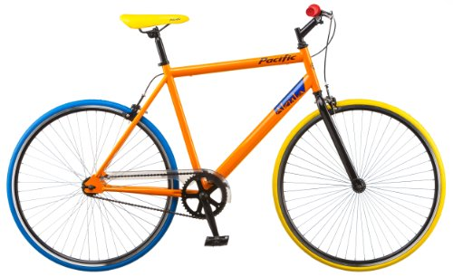 Pacific Akula Fixie Bike, Orange