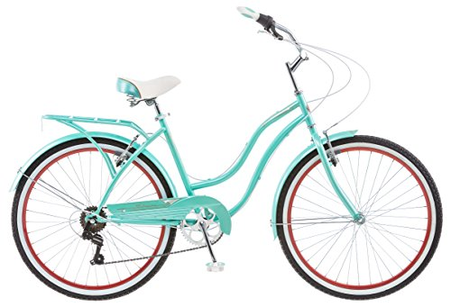 Schwinn Perla 7 Speed Women's 16 Cruiser Bike, 16-Inch/Small, Blue