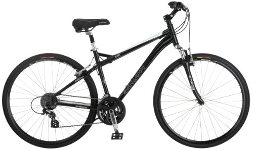 Schwinn Men's Mica 2.0 Hybrid Bike, Black, 18-Inch/Medium