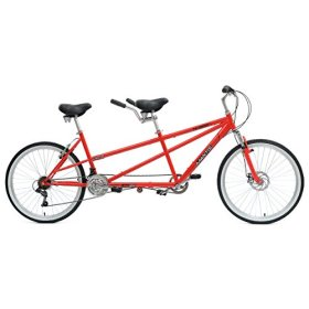 Mantis Taureno Tandem Bicycle, Red, (Wheel Size 26-Inch)