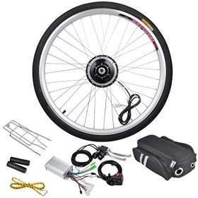 AW 26″ Front Wheel Electric Bicycle Motor Kit 36V 250W Pro Light Motor Cycling w/ Dual Mode Controller