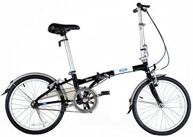 Ford by Dahon Taurus 1.0 Single Speed Folding Bicycle, Black, 11″ x 20″