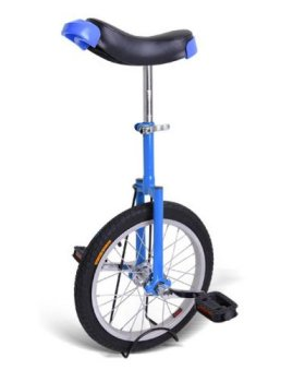 16 Inch Wheel Outdoor Street Unicycle – Deluxe Blue