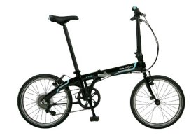 Dahon Vybe D7 Folding Bike Obsidian Rack and Fenders