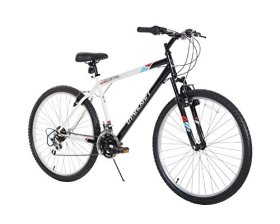 Dynacraft Men's 26″ 21 Speed Alpine Eagle Bike, 18.5″/One Size, Black/White