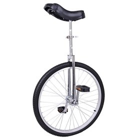 AW 24″ Inch Wheel Unicycle Leakproof Butyl Tire Wheel Cycling Outdoor Sports Fitness Exercise Health Silver