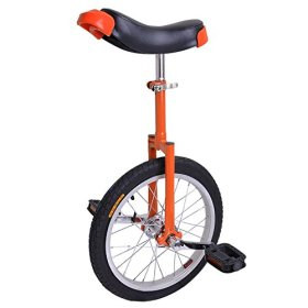 AW 16″ Inch Wheel Unicycle Leakproof Butyl Tire Wheel Cycling Outdoor Sports Fitness Exercise Health Orange