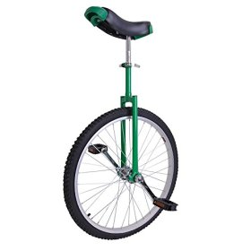 AW 24″ Inch Wheel Unicycle Leakproof Butyl Tire Wheel Cycling Outdoor Sports Fitness Exercise Health Green