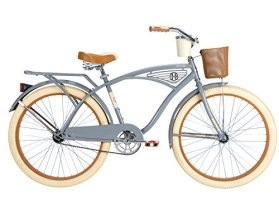 Huffy Bicycle Company Men's Number 26645 Deluxe Cruiser Bike, 26-Inch, Gray