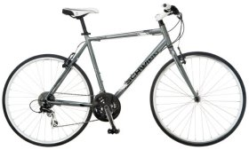 Schwinn Men's Phocus 1500 700C Flat Bar Road Bicycle, Silver, 18-Inch