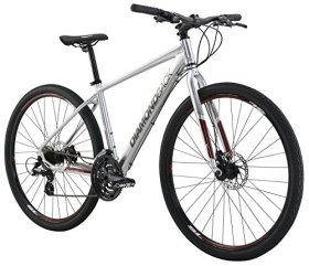 Diamondback Bicycles 2016 Trace Complete Dual Sport Bike, 16″/Small, Bright Silver