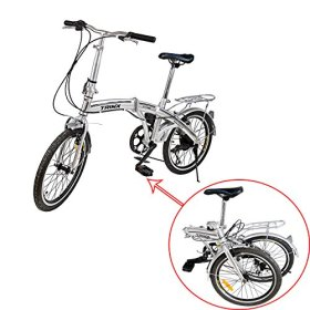Ridgeyard Portable 6 Speed Folding Bike Silver Fold Storage School Sports Shimano 20 Inch Foldable Bicycle