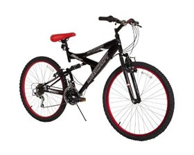 Dynacraft Men's 26″ 21 Speed Equator Bike, 18″/One Size, Black/Red