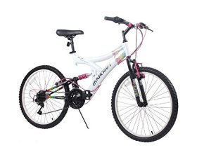 Dynacraft Women's 24″ 21 Speed Rip Curl Bike, 17″/One Size, White/Black/Pink