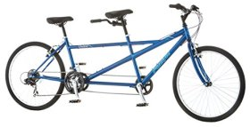 Pacific Dualie Tandem Bicycle with 26″ Wheels, Blue, 16″/One Size