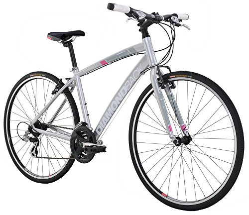 Diamondback Bicycles 2016 Women's Clarity 1 Complete Performance Hybrid Bike, Silver, 20″ Frame