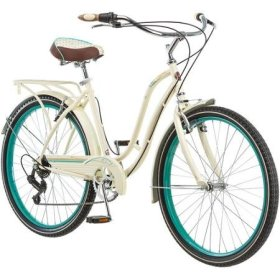 26″ Schwinn Fairhaven Women's 7-Speed Cruiser Bike, Cream