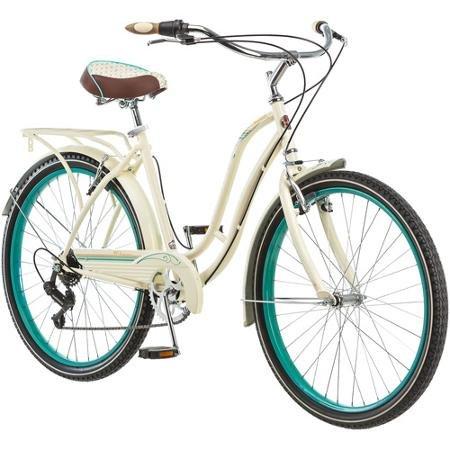 26″ Schwinn Fairhaven Women's 7-Speed Cruiser Bike, Cream