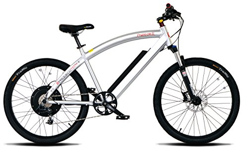 ProdecoTech Phantom X V5 36V600W 8 Speed Electric Bicycle 14Ah Samsung Li Ion, Brushed Aluminum, 18″/One Size