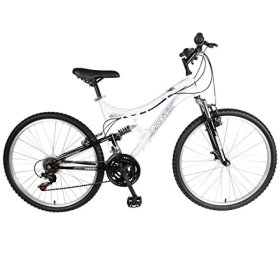 Mantis Orchid Full Suspension Mountain Bike, 26 inch Wheels, 17 inch Frame, Women's Bike, Pearl/Purple