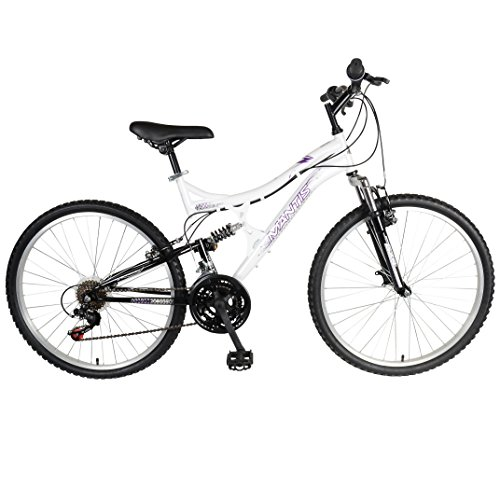 Mantis Orchid Full Suspension Mountain Bike, 26 inch Wheels, 17 inch Frame, Women's Bike, Pearl/Purple