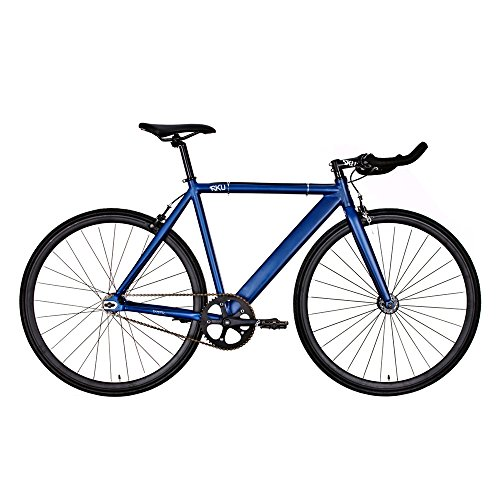 6KU Track Fixed Gear Bicycle, Navy Blue/Black, 49cm