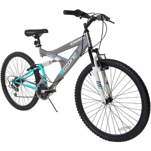 Ozone 500 Women's Ultra Shock 26″ 21-Speed Dual-Suspension Mountain Bicycle