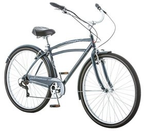 Schwinn Costin 7 Speed Men's 18 Cruiser Bike, 18-Inch/Medium, Grey