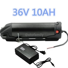 36V 10AH Black Bottle Lithium Li-ion E-Bike Battery for Bicycles+42V2A Charger