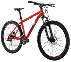 Diamondback Bicycles 2016 Overdrive Hard Tail Complete Mountain Bike, 27.5-Inch Wheels, Red, 18″ Frame