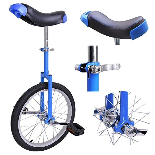 18″ Inches Wheel Skid Proof Tread Pattern Unicycle Bike Cycling Uni-Cycle BLUE