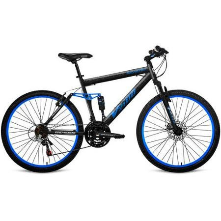 26″ Genesis V2100 Men's Mountain Bike with Full Suspension Blue