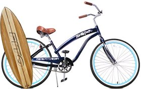 Anti-Rust Aluminum frame, Fito Modena II Alloy Single 1-speed – Midnight Blue, women's 26″ Beach Cruiser Bike Bicycle