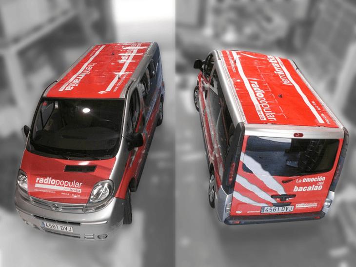 Rotulación de furgoneta Herri Irratia