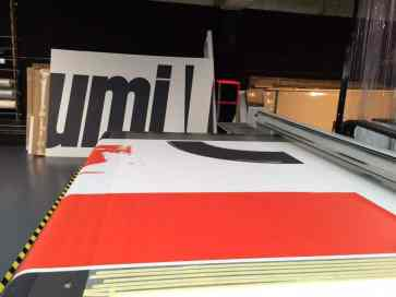 Imprimiendo lona gigante del Athletic