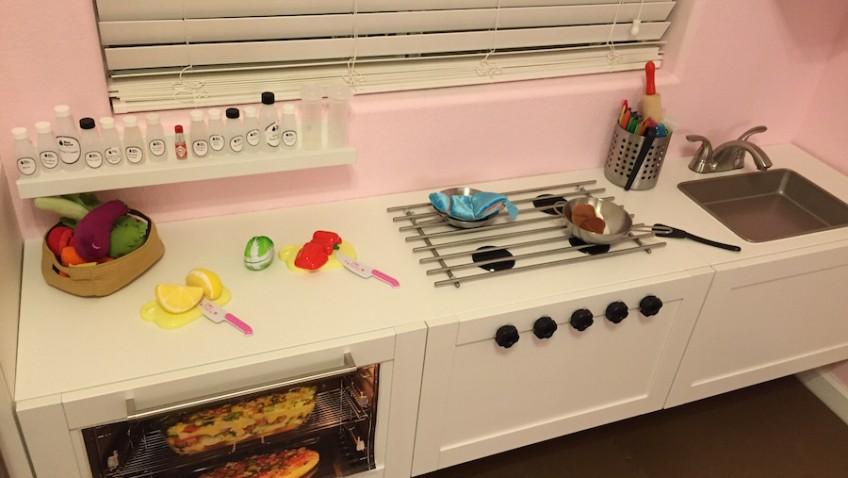 une cuisine de professionnel pour enfant