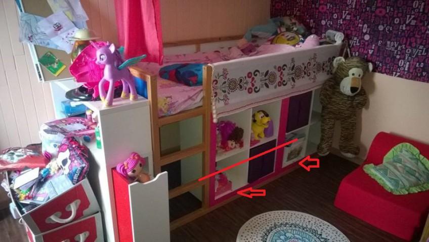 Lit Enfant Kura Bibliothque ExpeditKallax Bidouilles IKEA