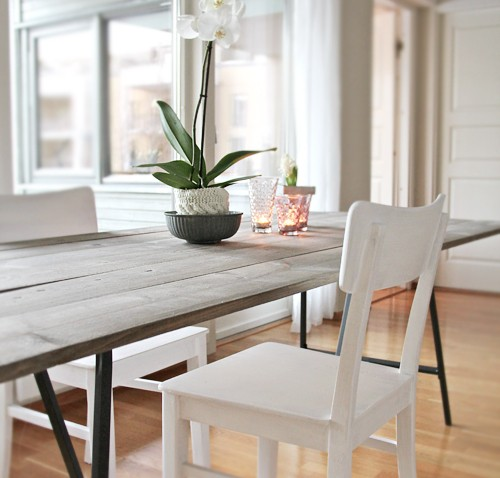 table salle a manger campagne chic