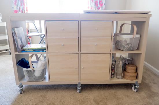 un bureau de bricolage avec kallax ikea