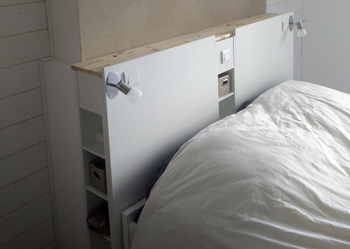 de lit ikea avec rangements en diy